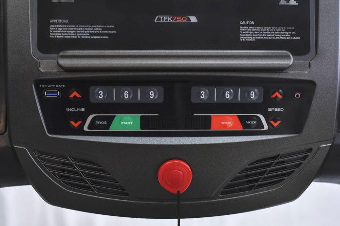 EVERFIT TFK 750 displayprogammi allenamento